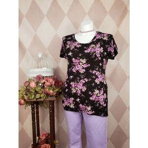 Deb | Purple Floral Top